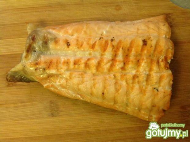 Łososiowo- szpinakowa tarta