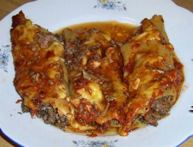 Makaron cannelloni zapiekany