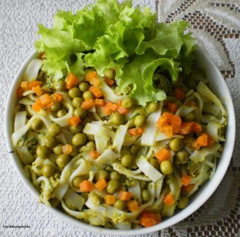 Makaron ryżowy na groszkowo: