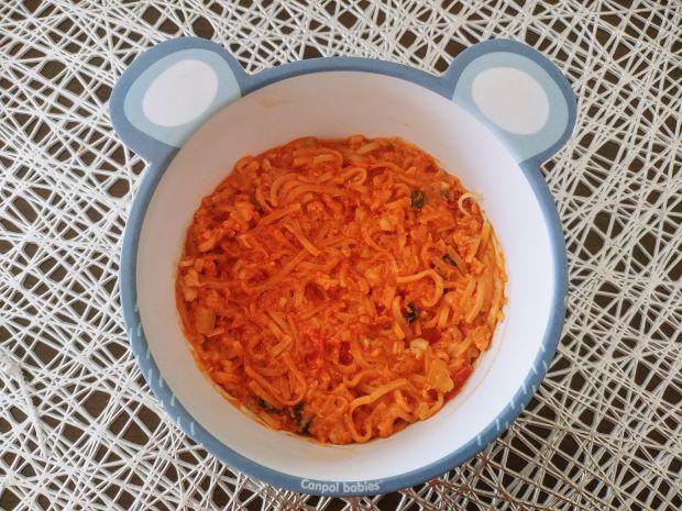 Makaron z dorszem i warzywami - dla dziecka