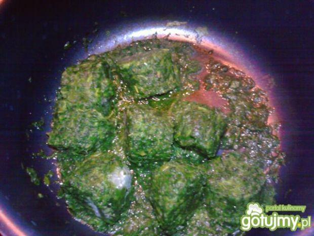 Makaron z sosem szpinakowym 3