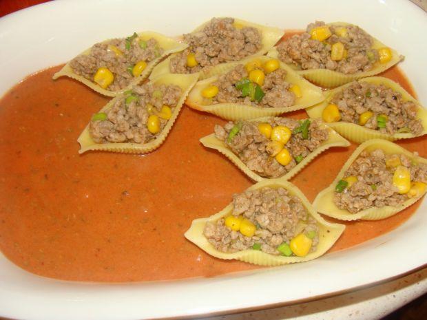 Makaronowe muszle z mięsem