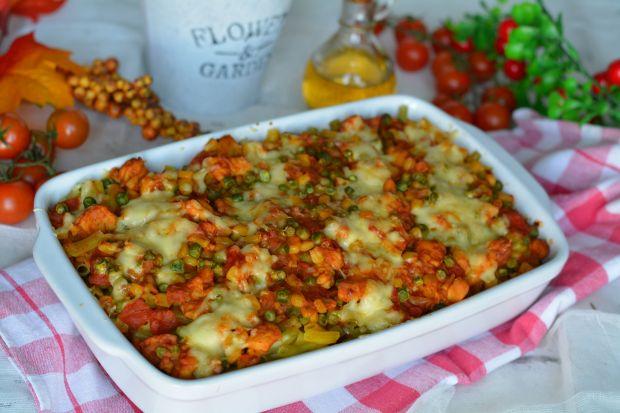 Makaronowo- pomidorowa zapiekanka z kurczakiem