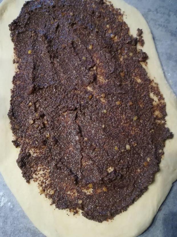 Makowiec (strucla makowa) z dodatkiem krupczatki