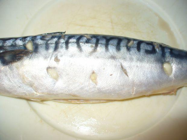 Makrela grillowana z czosnkiem