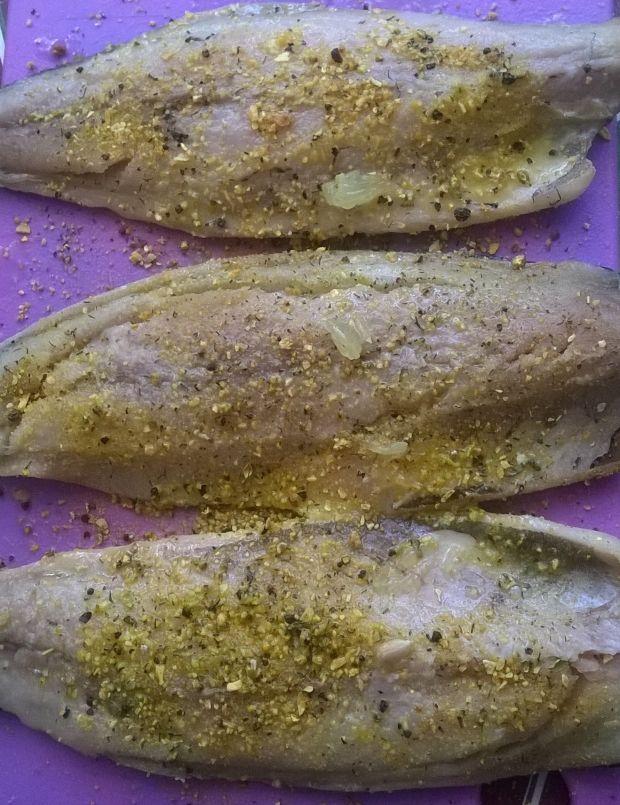 Makrela pod migdałową kruszonką