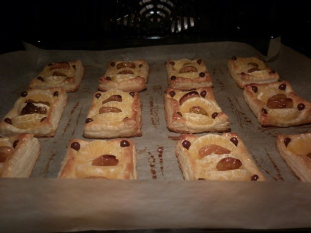 Mandarynki po francusku z rodzynkami i czekoladą