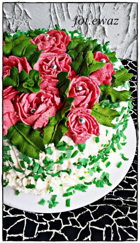 Mandarynkowy tort rocznicowy