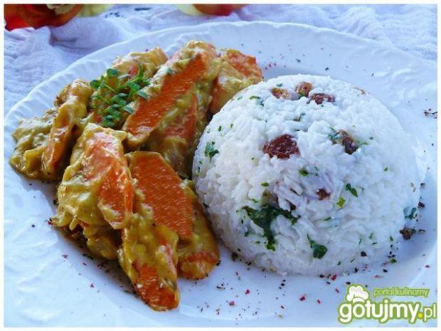 Marchewkowe curry z kolorowym ryżem