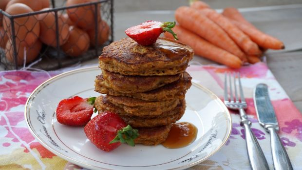 Marchewkowe pancakes z cynamonem