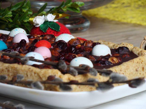 Mazurek czekoladowo-orzechowy