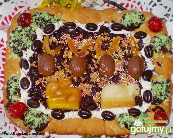 Mazurek czekoladowo-wiśniowy