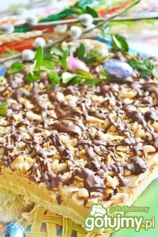 Mazurek fistaszkowy z czekoladą