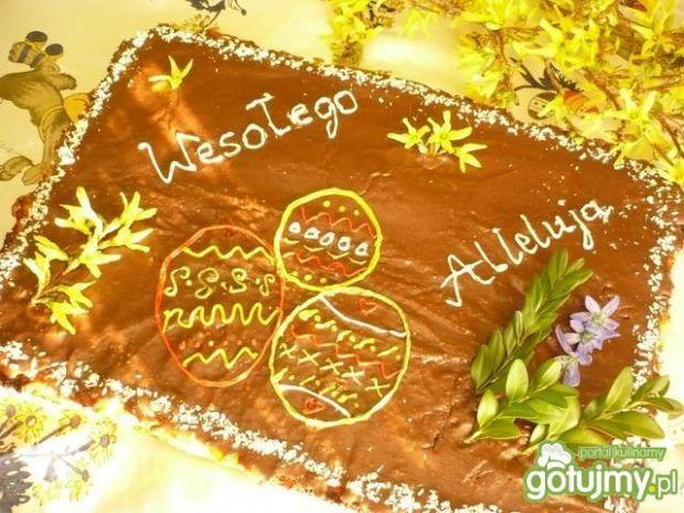 Mazurek serowo-czekoladowy