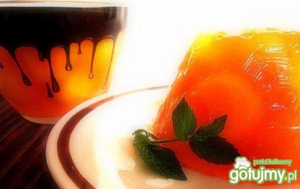 Melon w galaretce z dodatkiem wina Porto