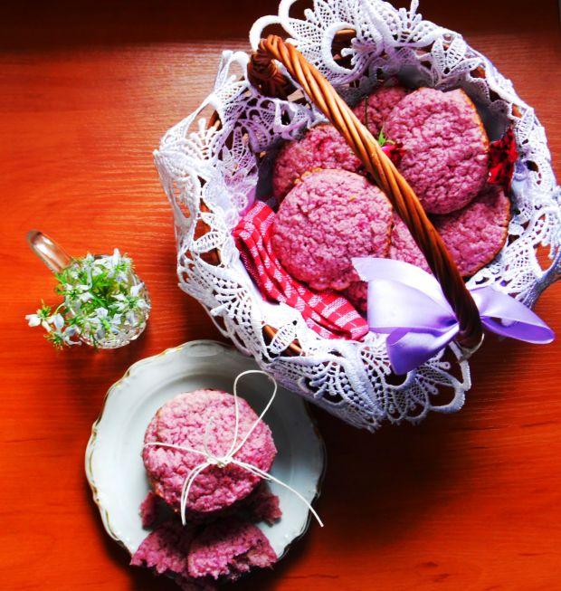 Miękkie ciasteczka malinowe