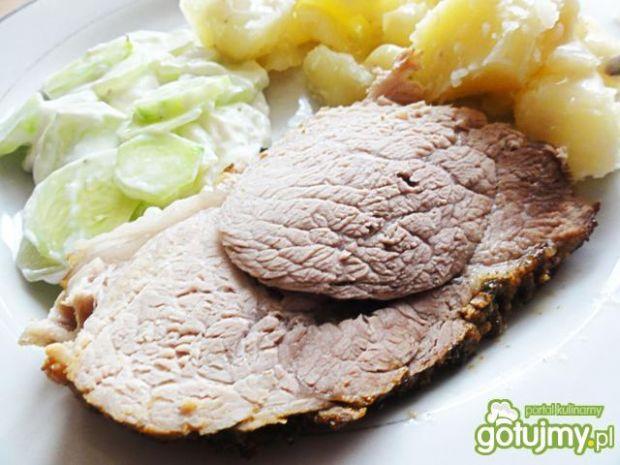 Mięso pieczone w musztardzie francuskiej