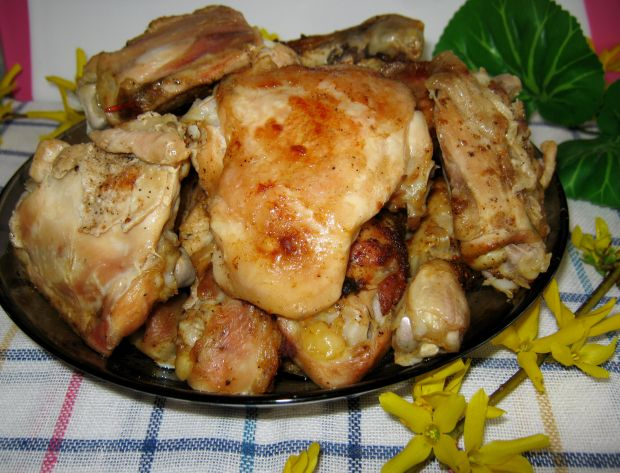 Mięso z rosołu z piekarnika