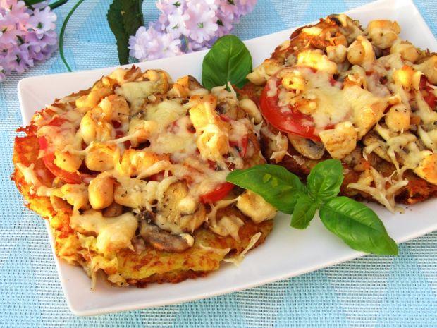 Mini pizze na plackach ziemniaczanych