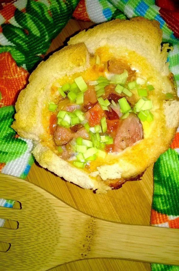 Mini zapiekanka z chleba tostowego