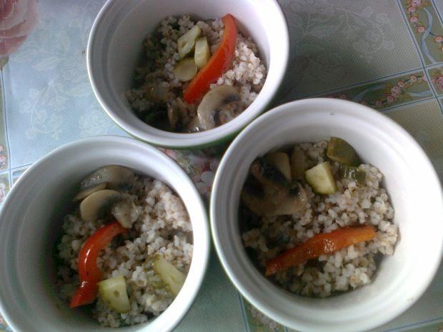 Mini zapiekanki warzywne z kaszą