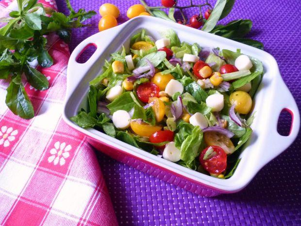 Mix sałat z pomidorkami i serem