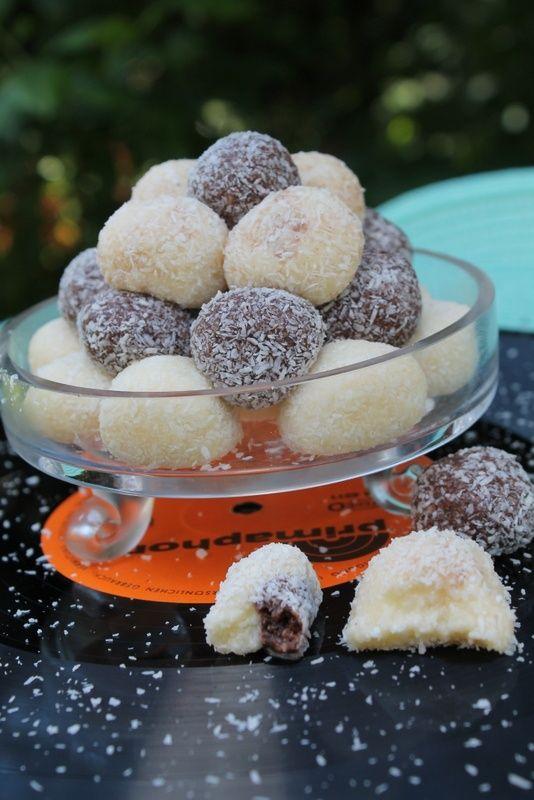 Mleczne pralinki kokosowe
