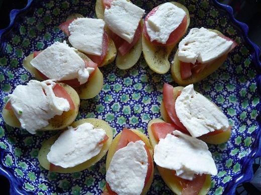 Młode ziemniaki z grilla w kolorach włoskich