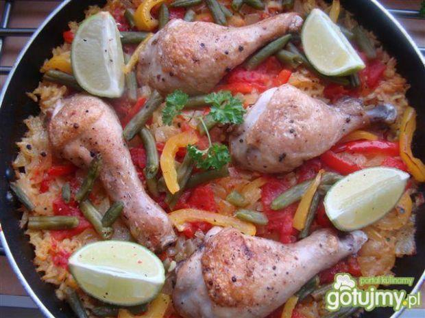 Moja paella z kurczakiem