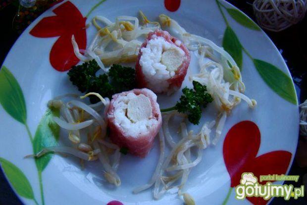 Moje sushi  z szparagą