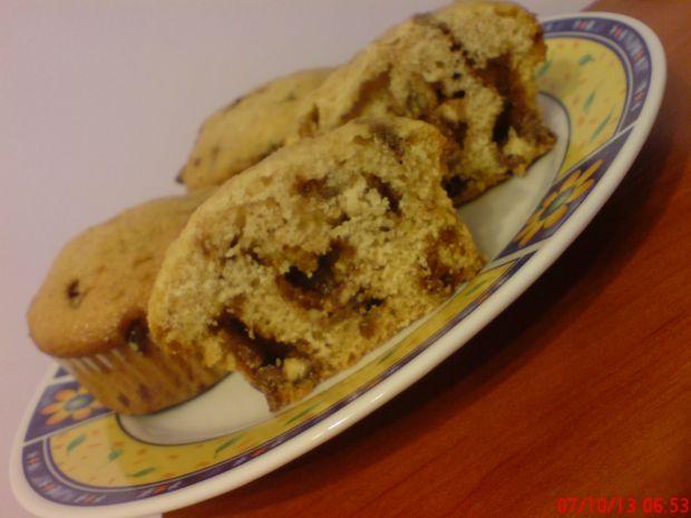 Muffinki babeczki piegowate z czekoladą