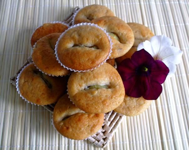 Muffinki bananowe z kiwi
