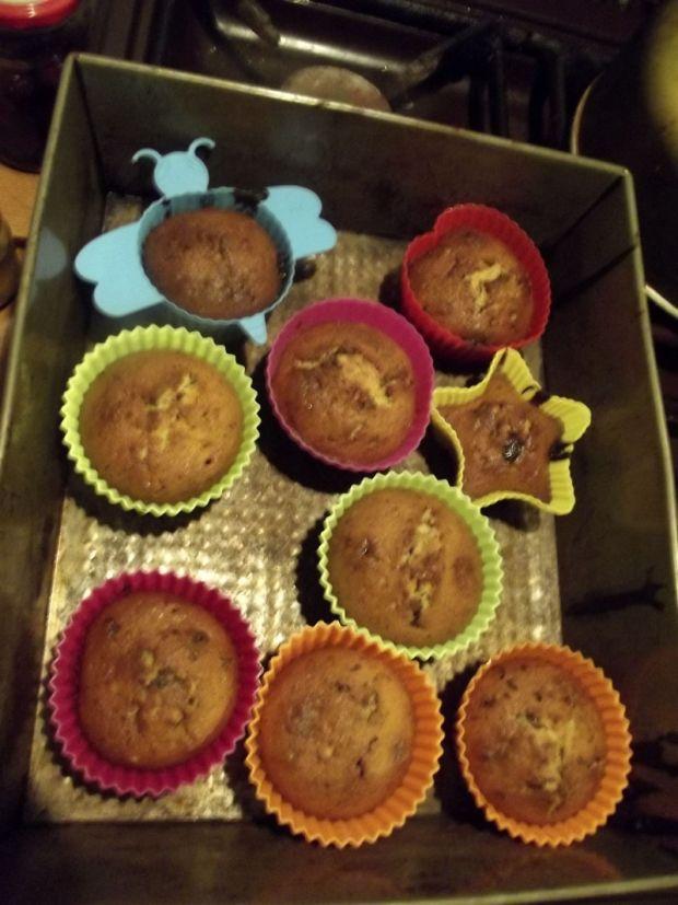 Muffinki czekoladowo orzechowe