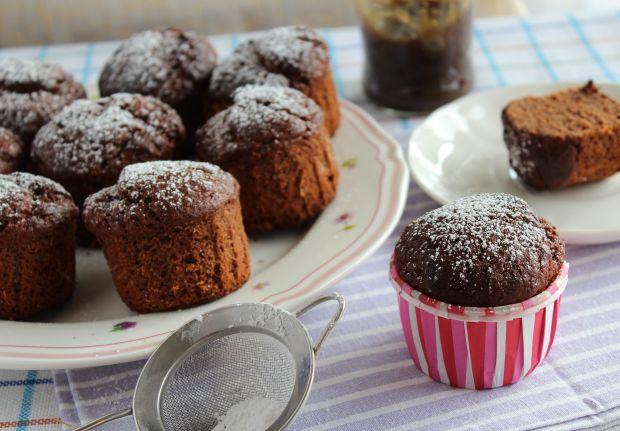 Muffinki czekoladowo-rabarbarowe
