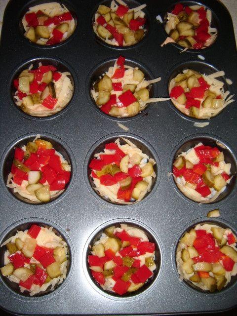 Muffinki gyrosowe - zapiekane