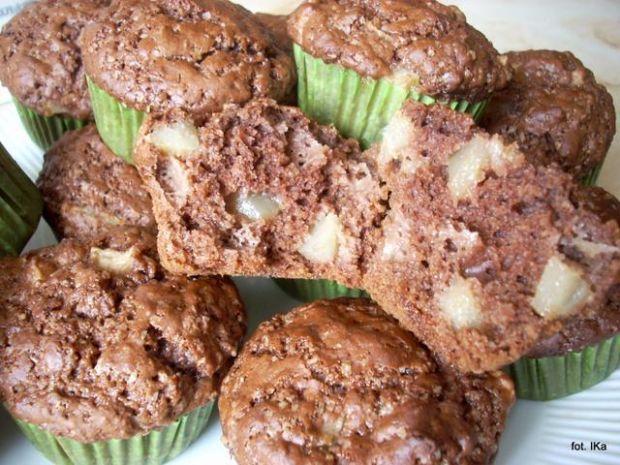 Muffinki - murzynki z gruszką