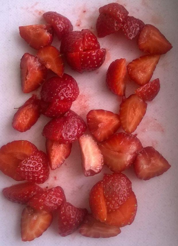 Muffinki orkiszowo - owsiane z truskawkami