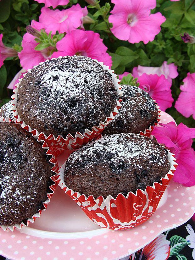 Muffinki pepsi cola z jagodami