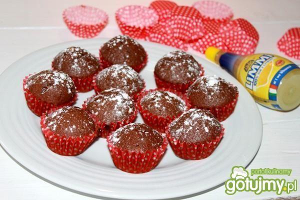 Muffiny czekoladowe z nutą cytrynową