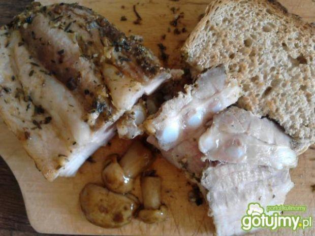 Musztardowy boczek do kanapek