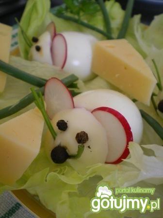 Myszki z jajek i rzodkiewki