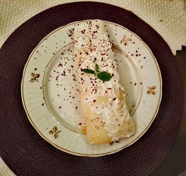 Naleśnik straciatella z bananem