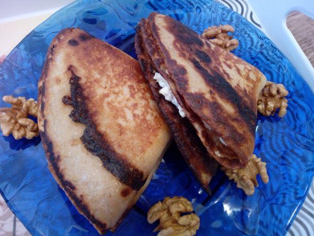 Naleśniki orzechowe z orzechowym serem