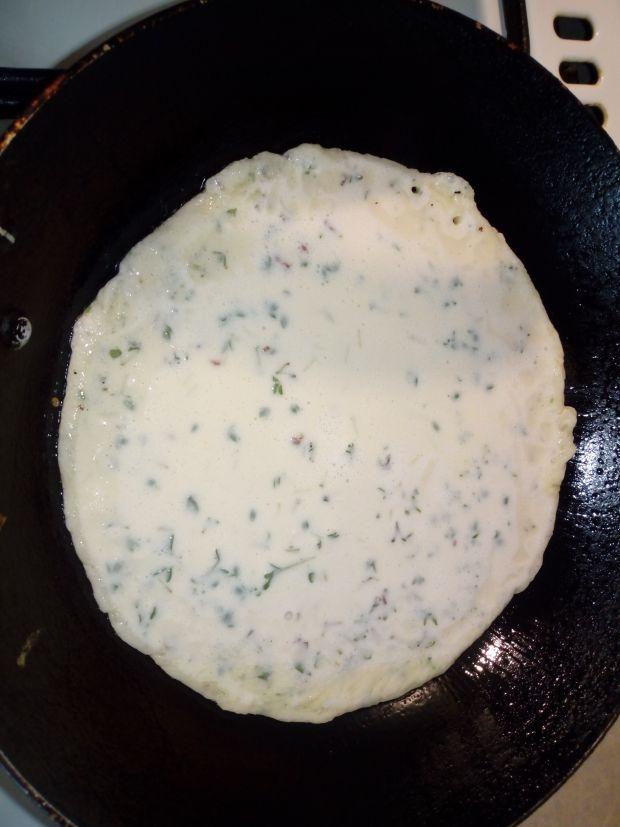 Naleśniki rzeżuchowe z serem