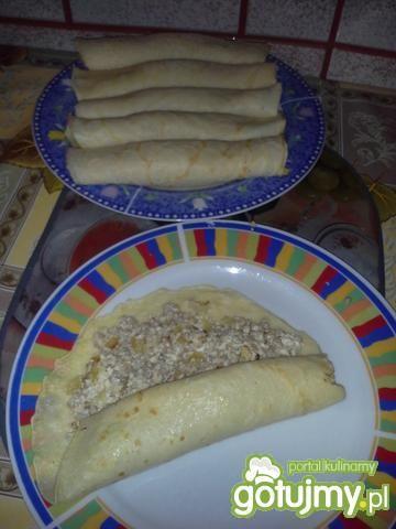Naleśniki z serem i kaszą