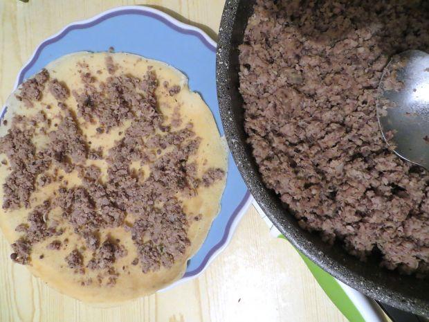Naleśniki zapiekane w pietruszkowym sosie pesto