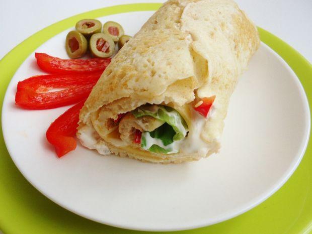 Naleśnikowe wrapy żytnio-owsiane z warzywami