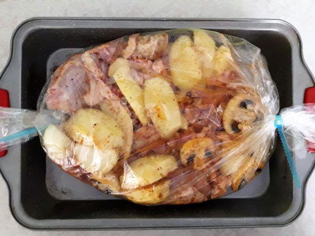 Obiad z kurczakiem z rękawa