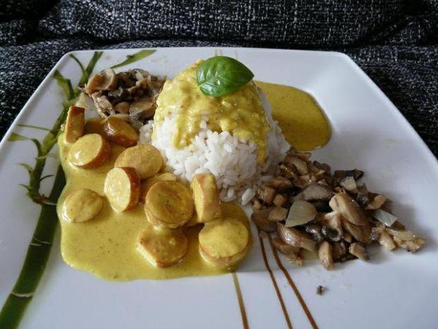 Obiadek z sosem curry ;-)