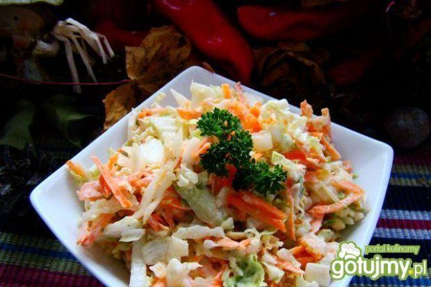 Obiadowa sałatka  z kapusty  i selera